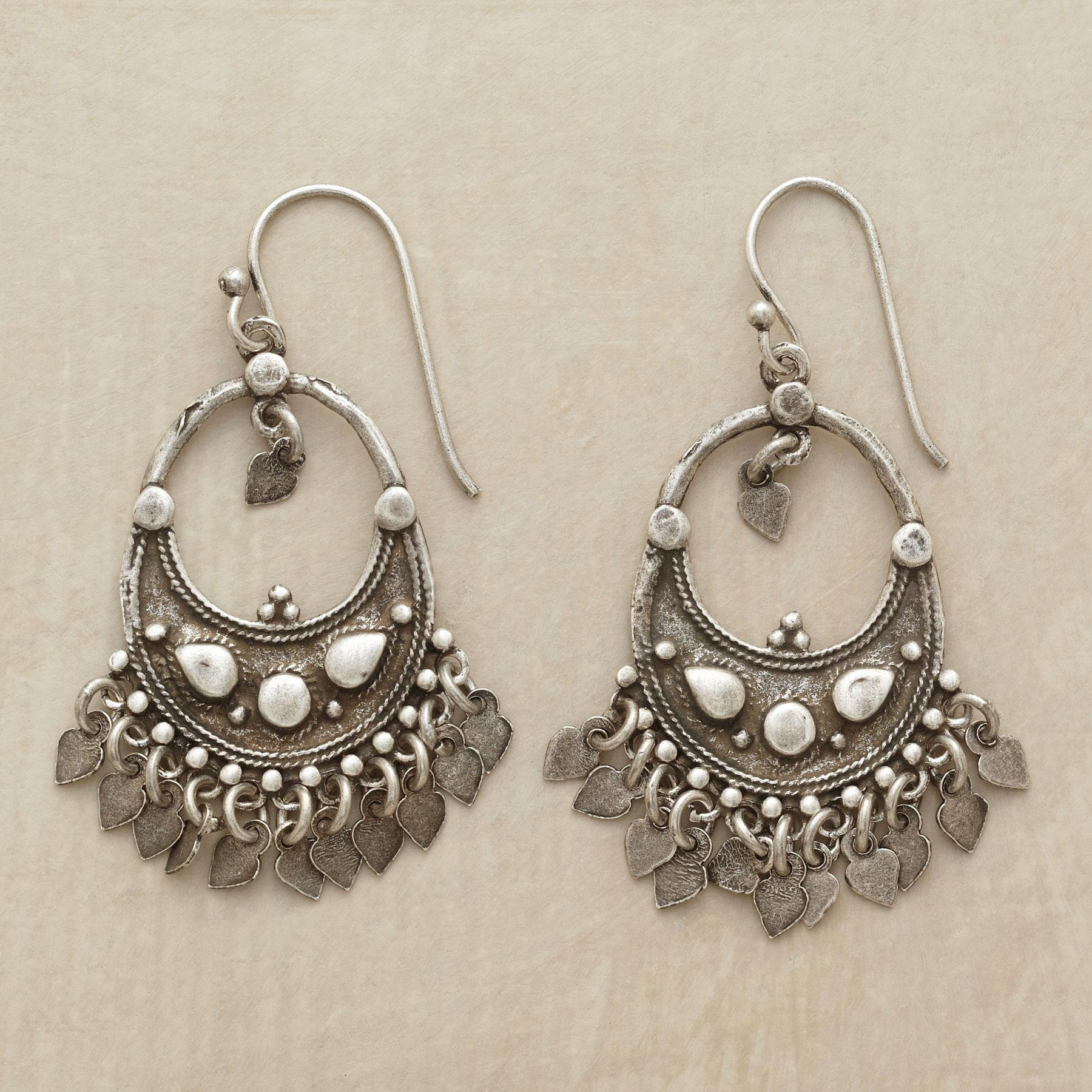 CRESCENT CHANDELIER EARRINGS: View 1