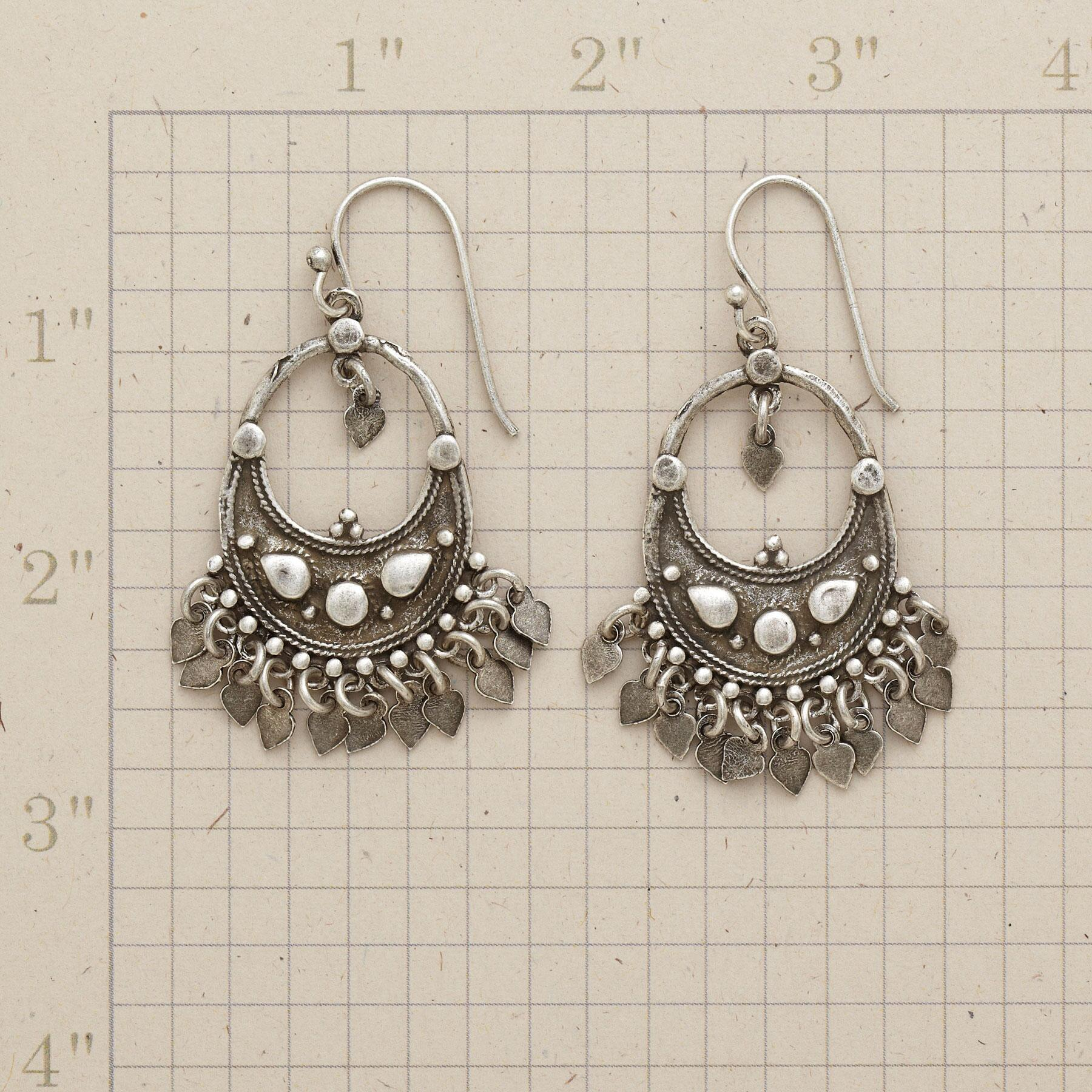 CRESCENT CHANDELIER EARRINGS: View 2