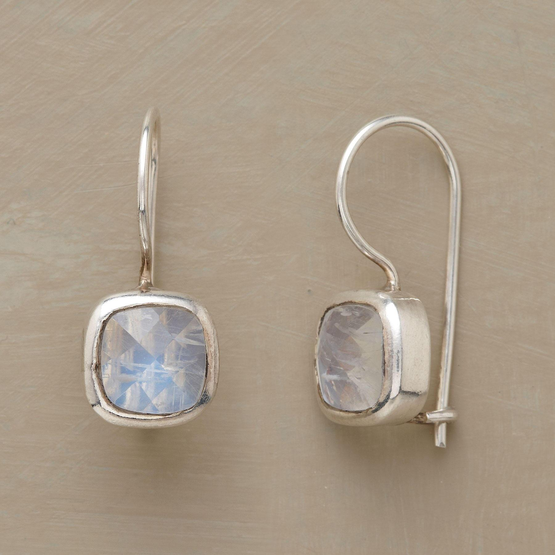 FACETED MOONSTONE EARRINGS: View 1