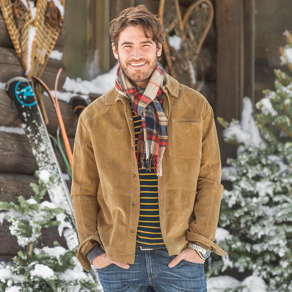 Suede Shirt Jacket | Robert Redford's Sundance Catalog