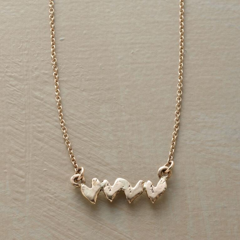 GOLD HEART BEATS FOR YOU NECKLACE