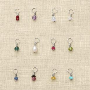 SILVER BIRTHSTONE CHARMS