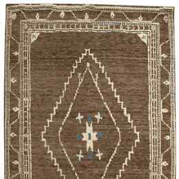 LURIA TIBETAN KNOTTED RUG, LARGE