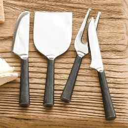 ARTISAN HAMMERED CHEESE KNIFE SET, 4-PIECE SET
