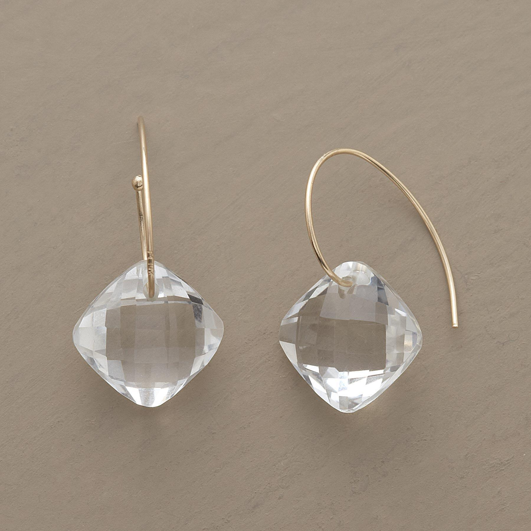 CLEAR CUT EARRINGS: View 1