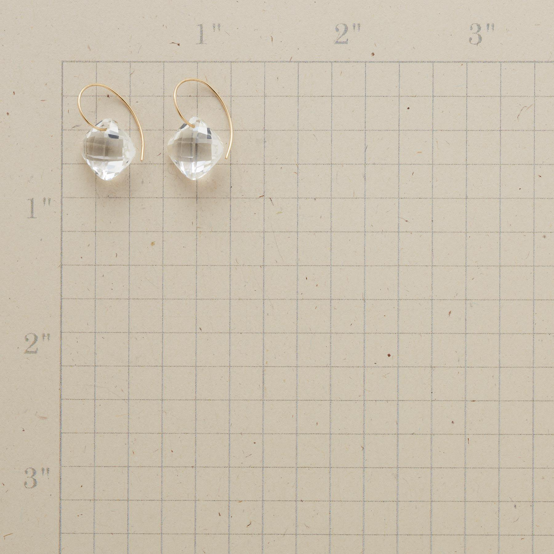 CLEAR CUT EARRINGS: View 2