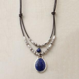 TWOFOLD LAPIS NECKLACE