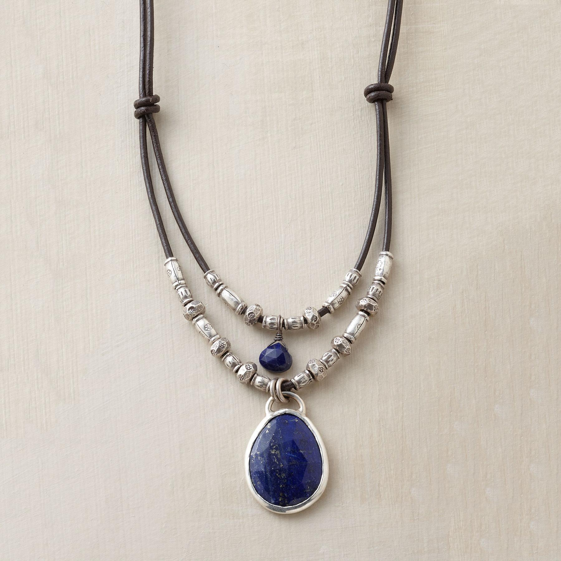 TWOFOLD LAPIS NECKLACE: View 1