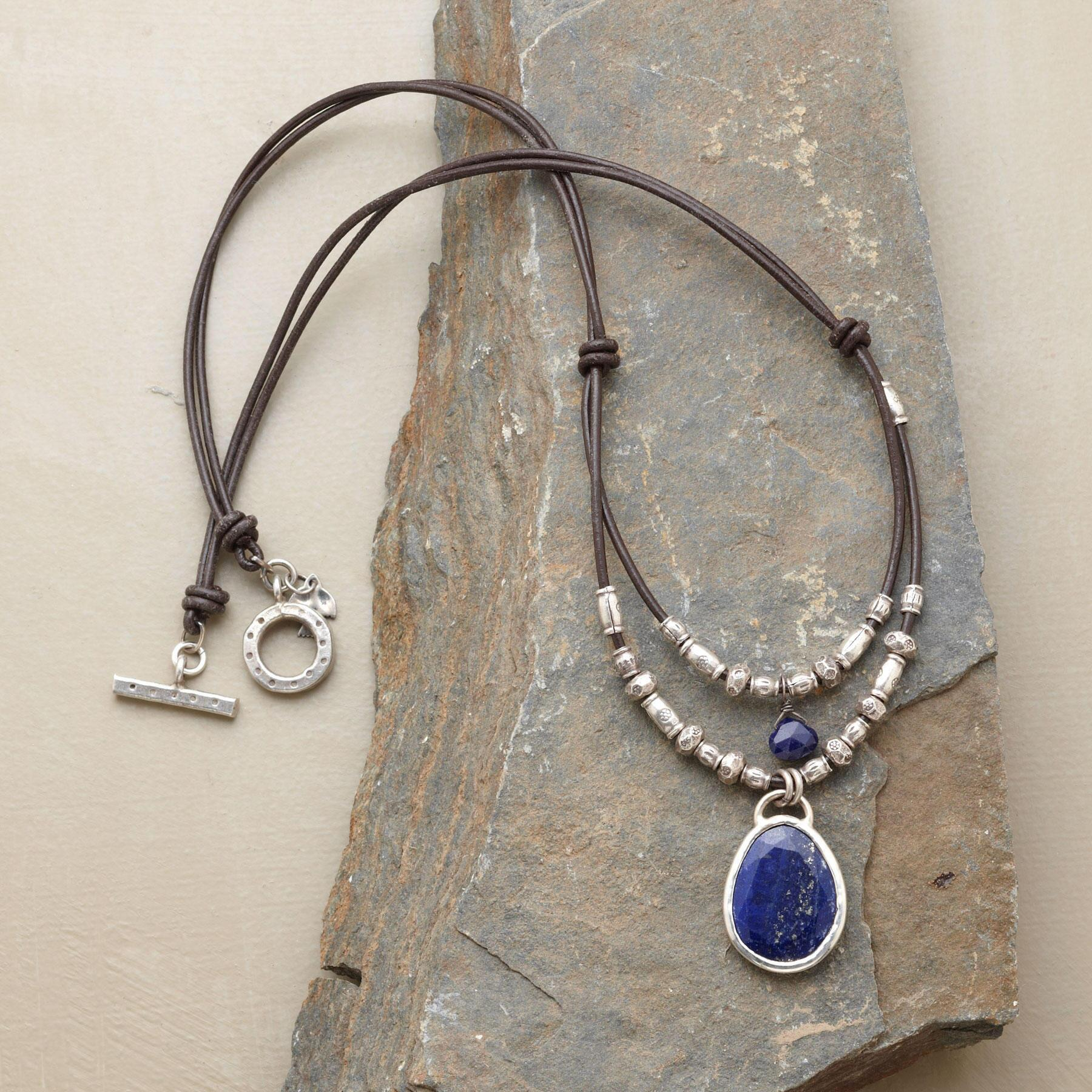 TWOFOLD LAPIS NECKLACE: View 2