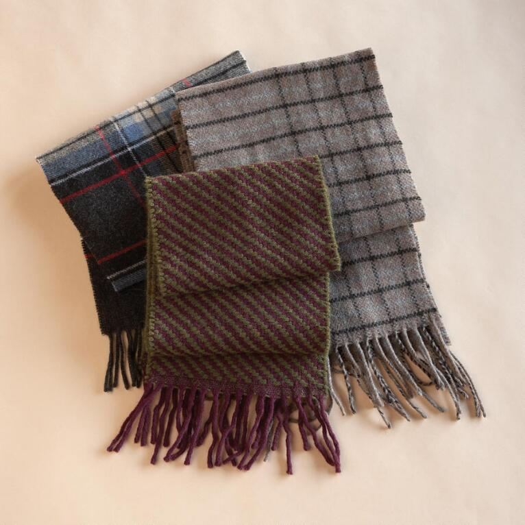 ITALIAN LAMBSWOOL BLEND SCARVES, SET OF 3