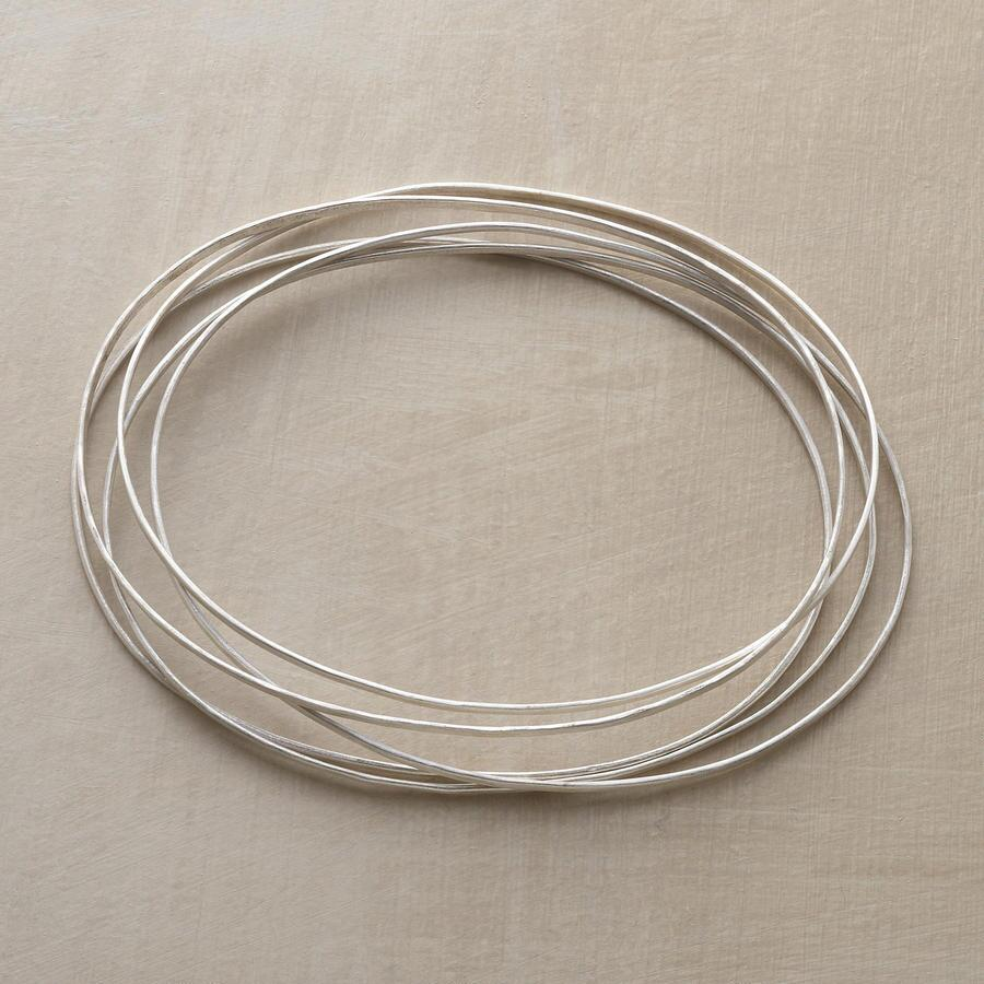 STERLING ORBIT BANGLE BRACELETS