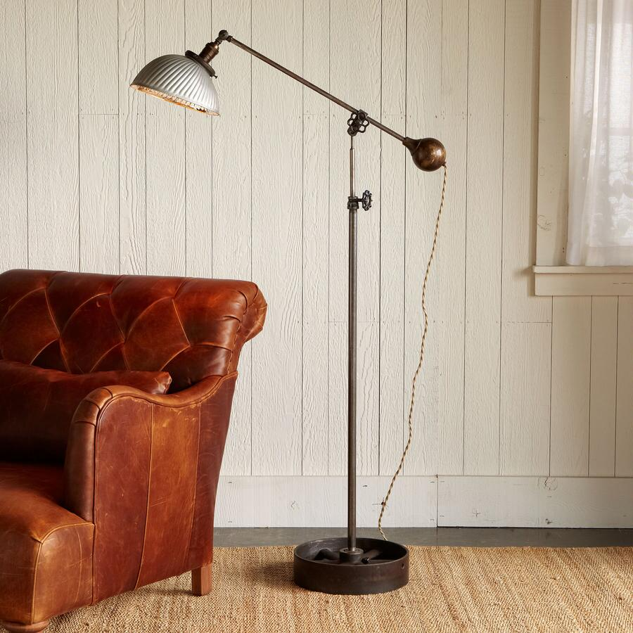 VINTAGE SILVER MERCURY FLOOR LAMP