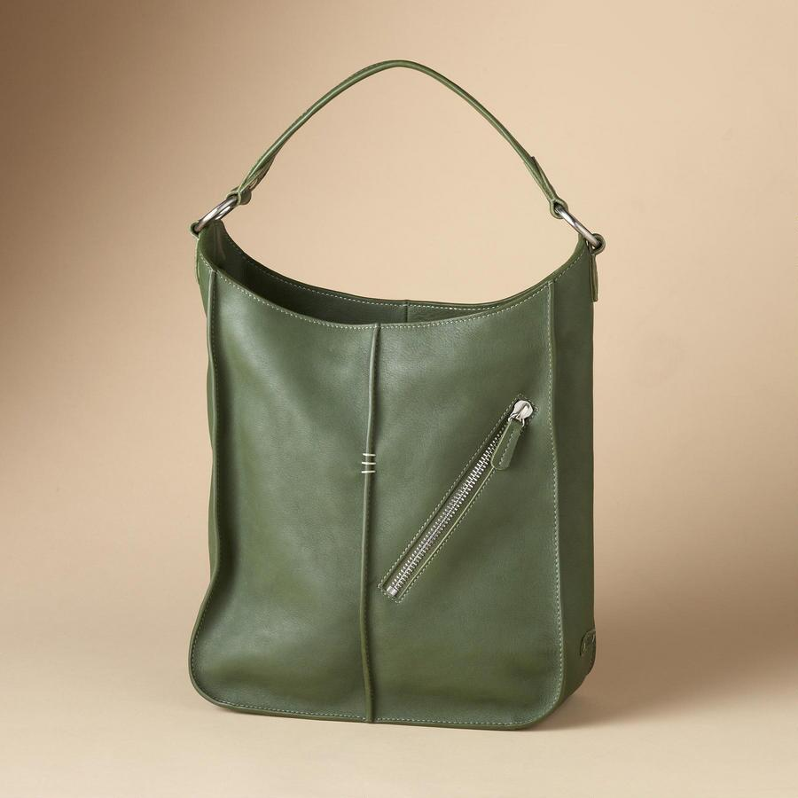GOOD-TO-BE-GREEN LEATHER TOTE