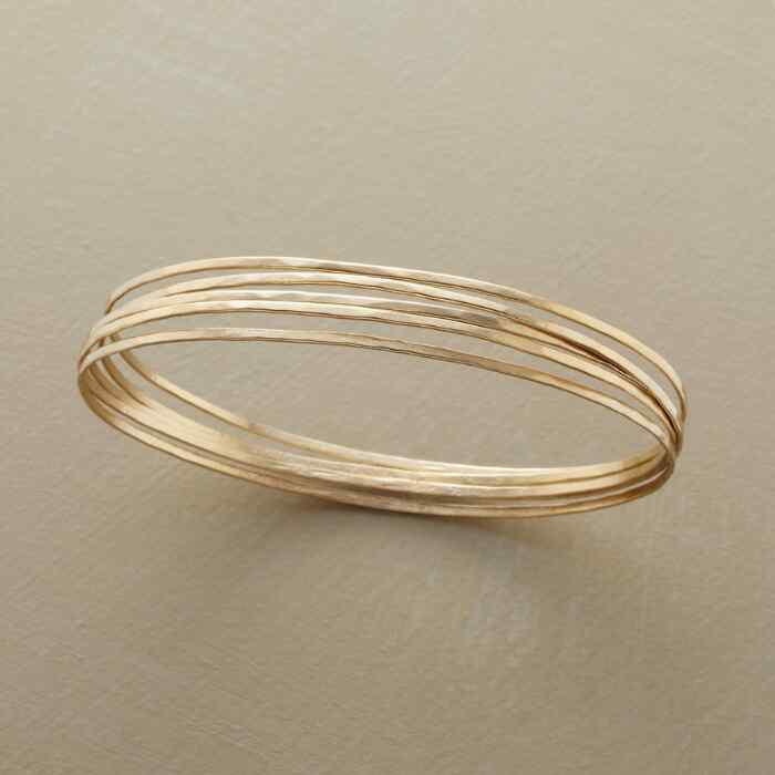 GOLDEN ORBIT BANGLE BRACELETS, SET OF 5