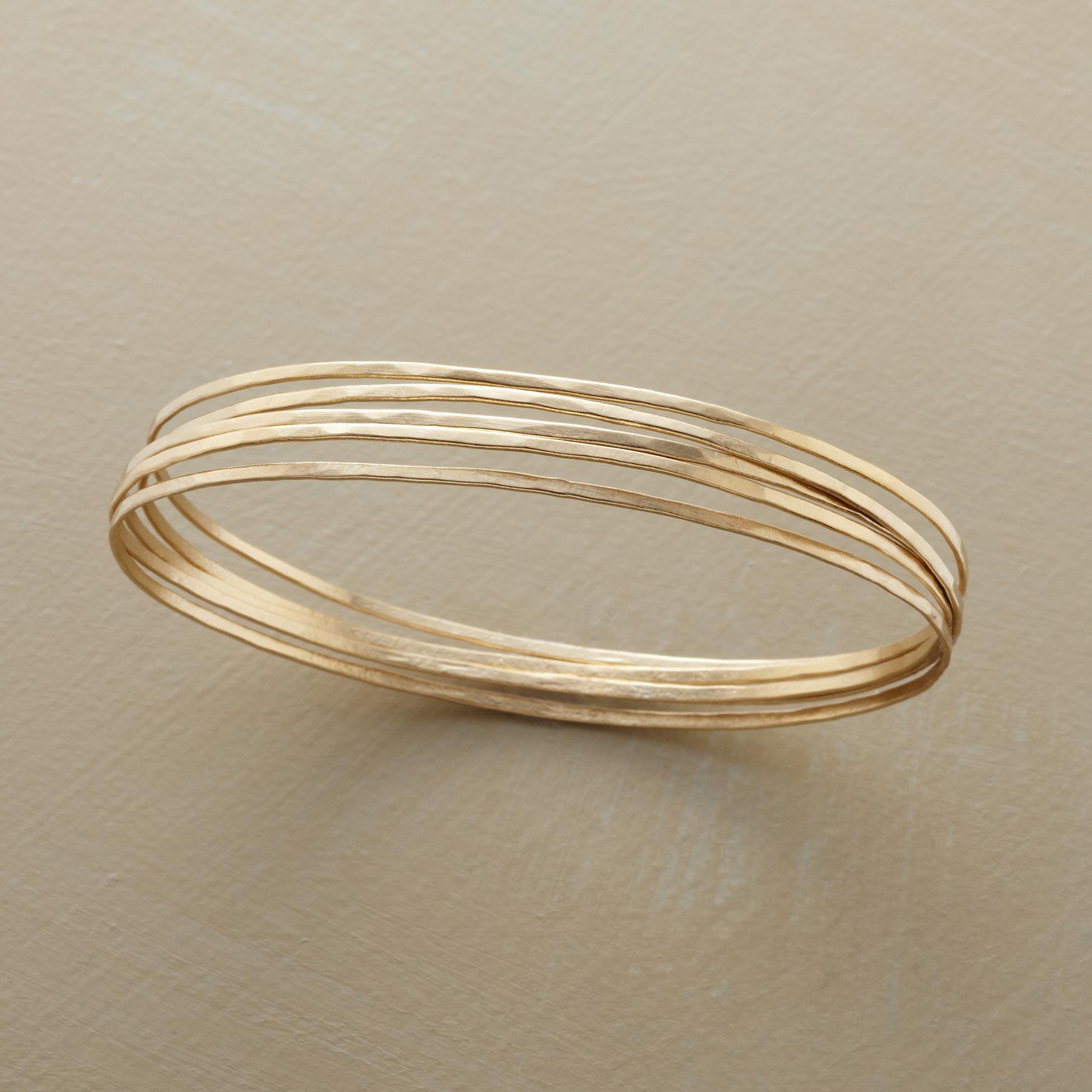 GOLDEN ORBIT BANGLE BRACELETS: View 1