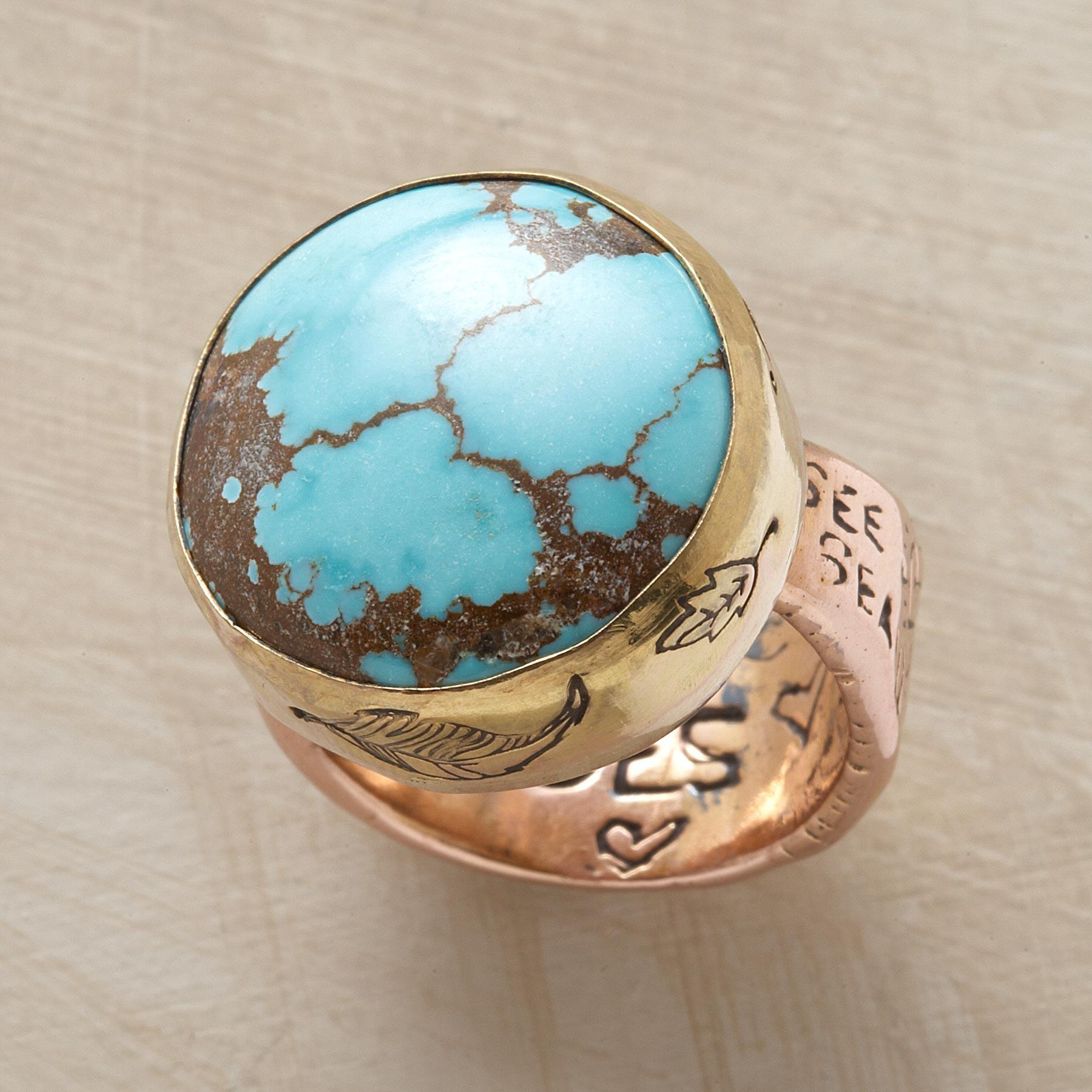 TURQUOISE TESTAMENT RING: View 1