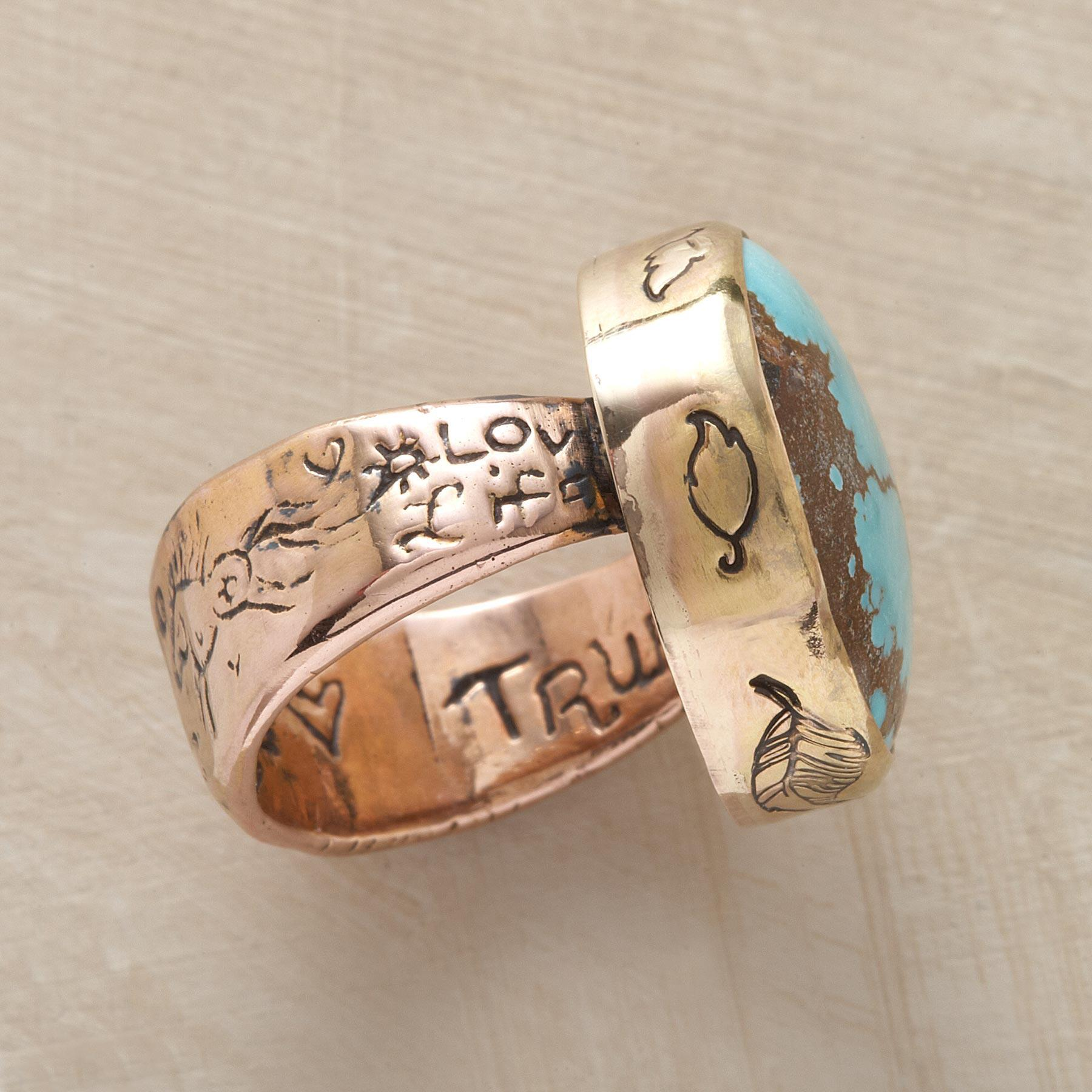 TURQUOISE TESTAMENT RING: View 3