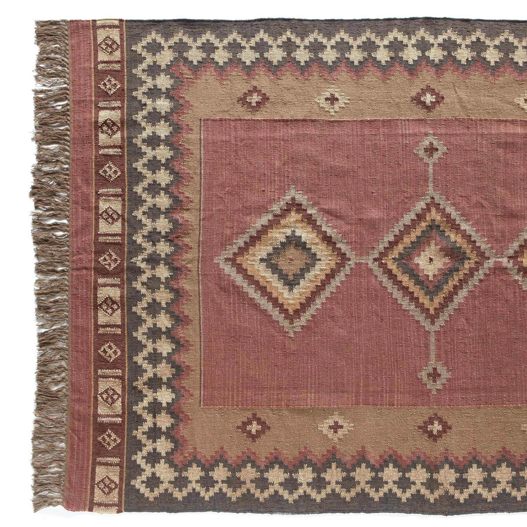 DIAMONDBACK DHURRIE RUG: View 1