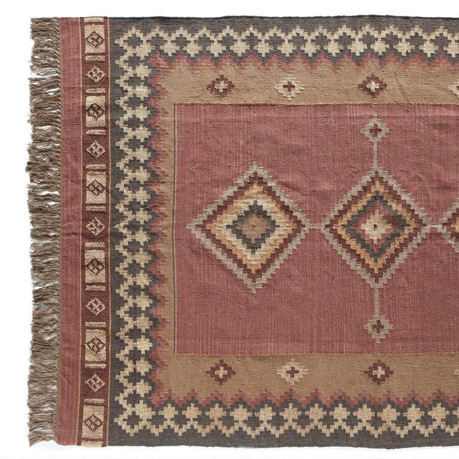 DIAMONDBACK DHURRIE RUG, LARGE