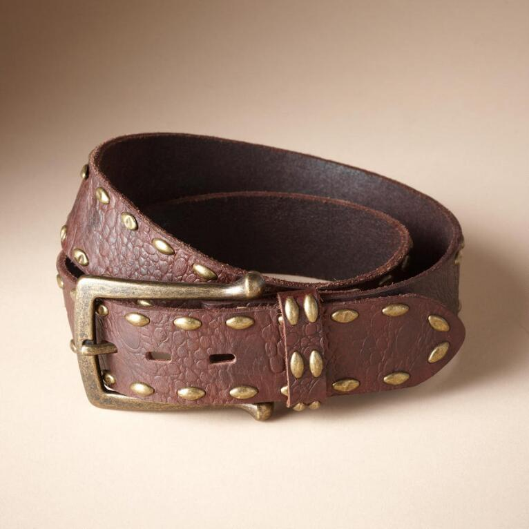 STUDDED BELT WITH SUBSTANCE