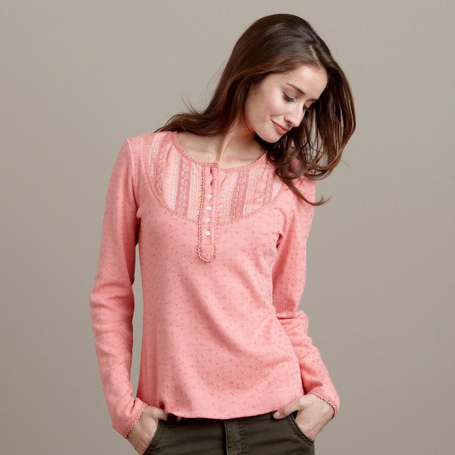 PERFECT EYELET HENLEY