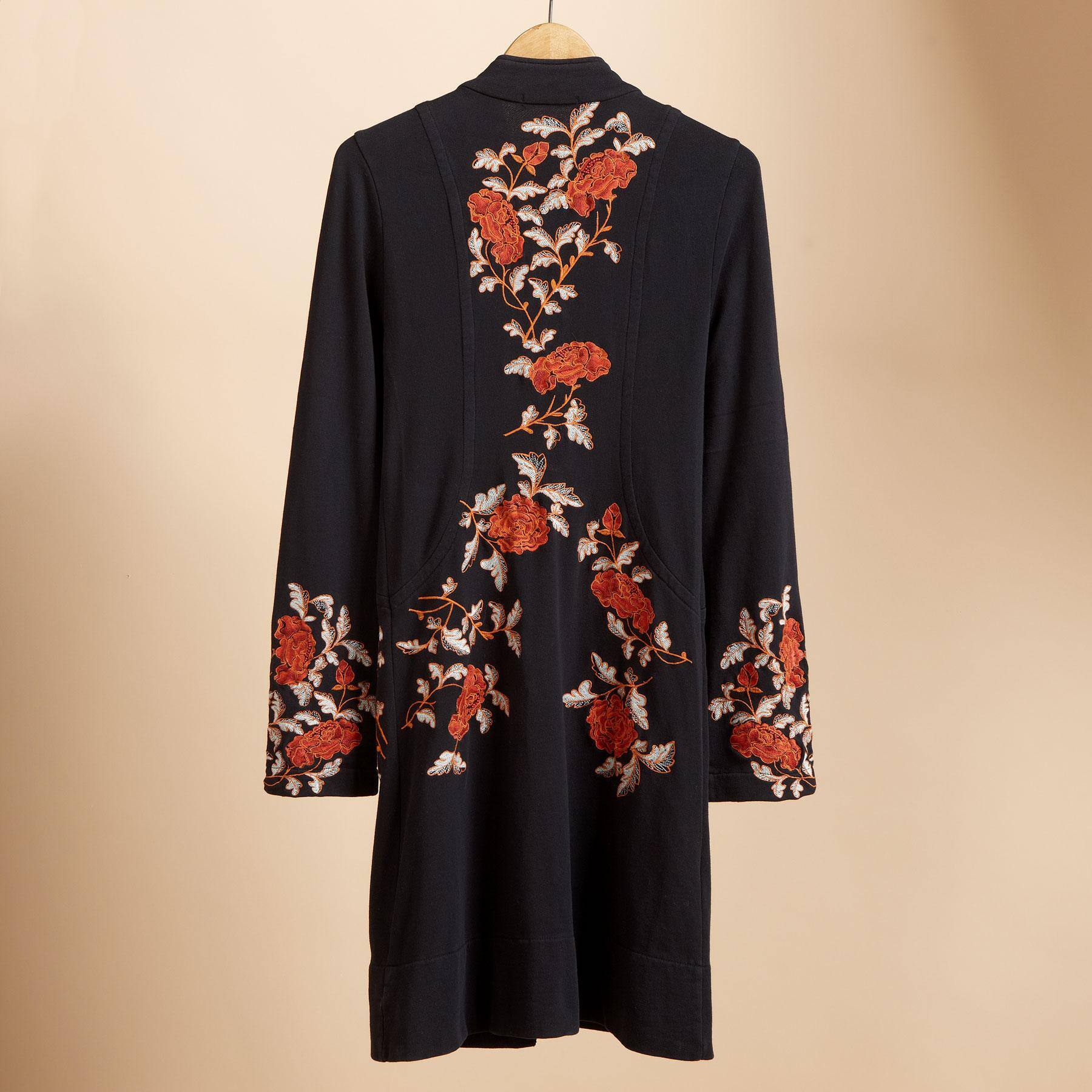 FLORAL EMBROIDERED STELLA COAT: View 2