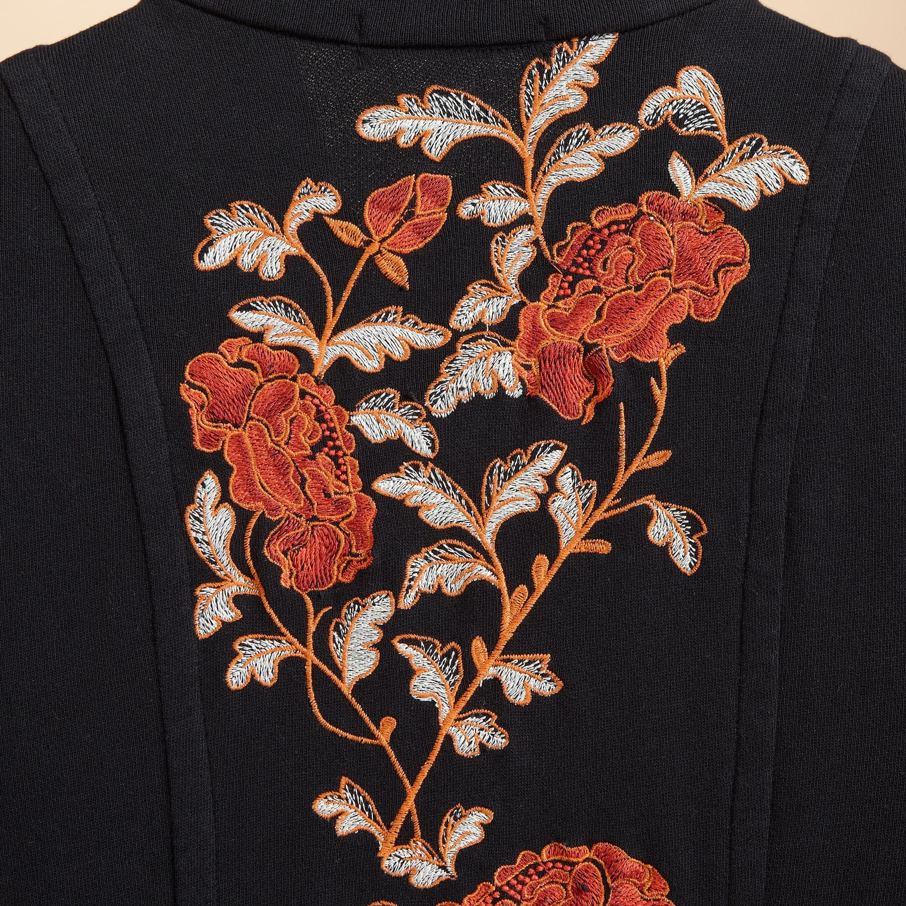 FLORAL EMBROIDERED STELLA COAT: View 3