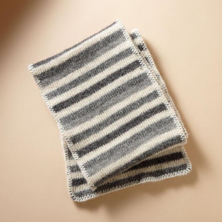 BROHM STRIPED SCARF