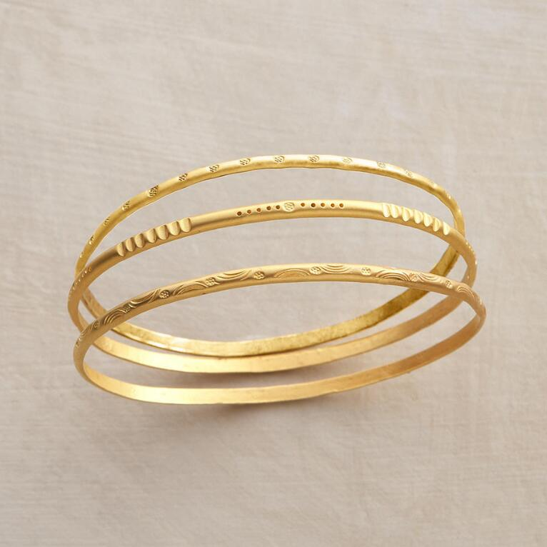 HILL TRIBE BANGLES, SET OF 3