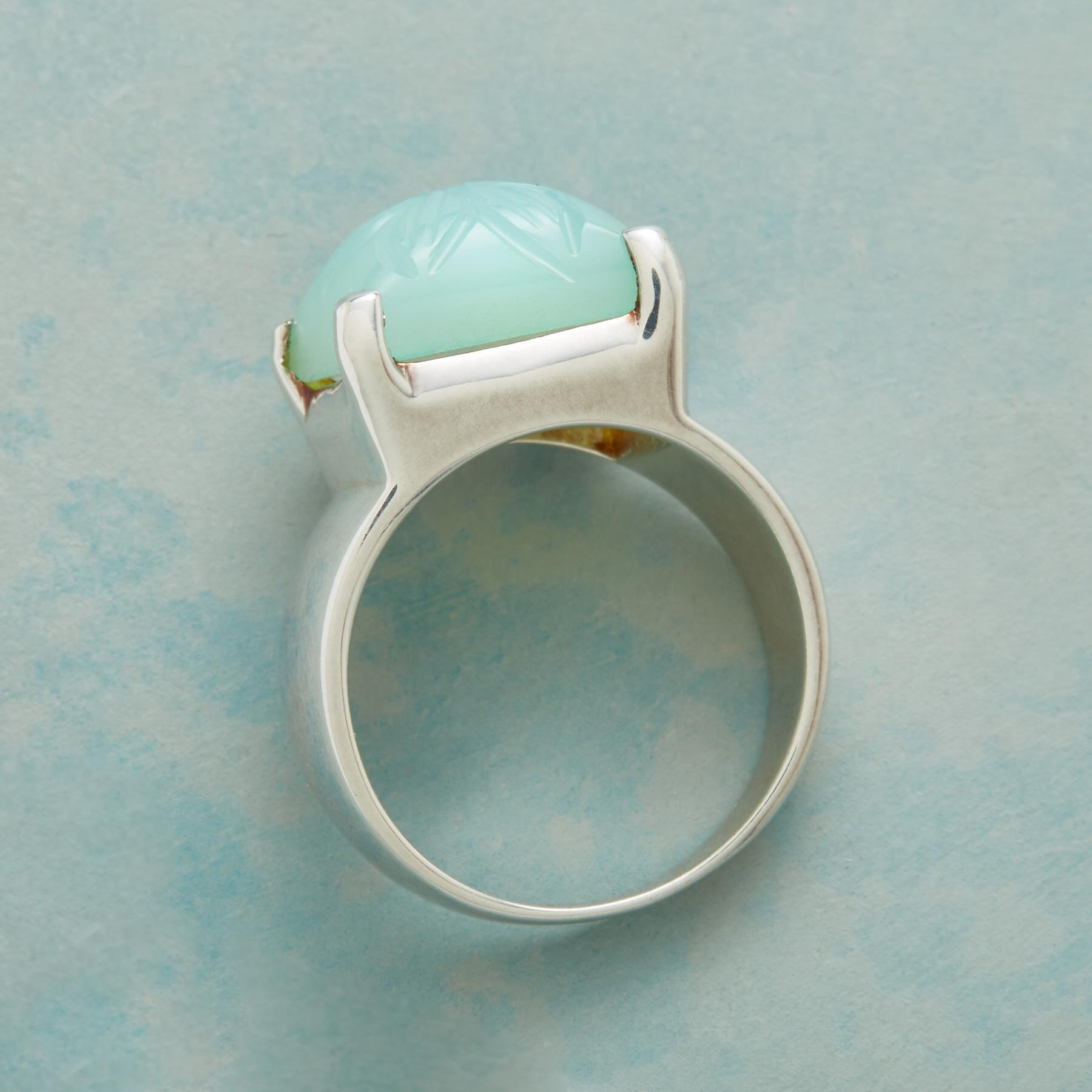 CHISELED CHALCEDONY RING: View 2