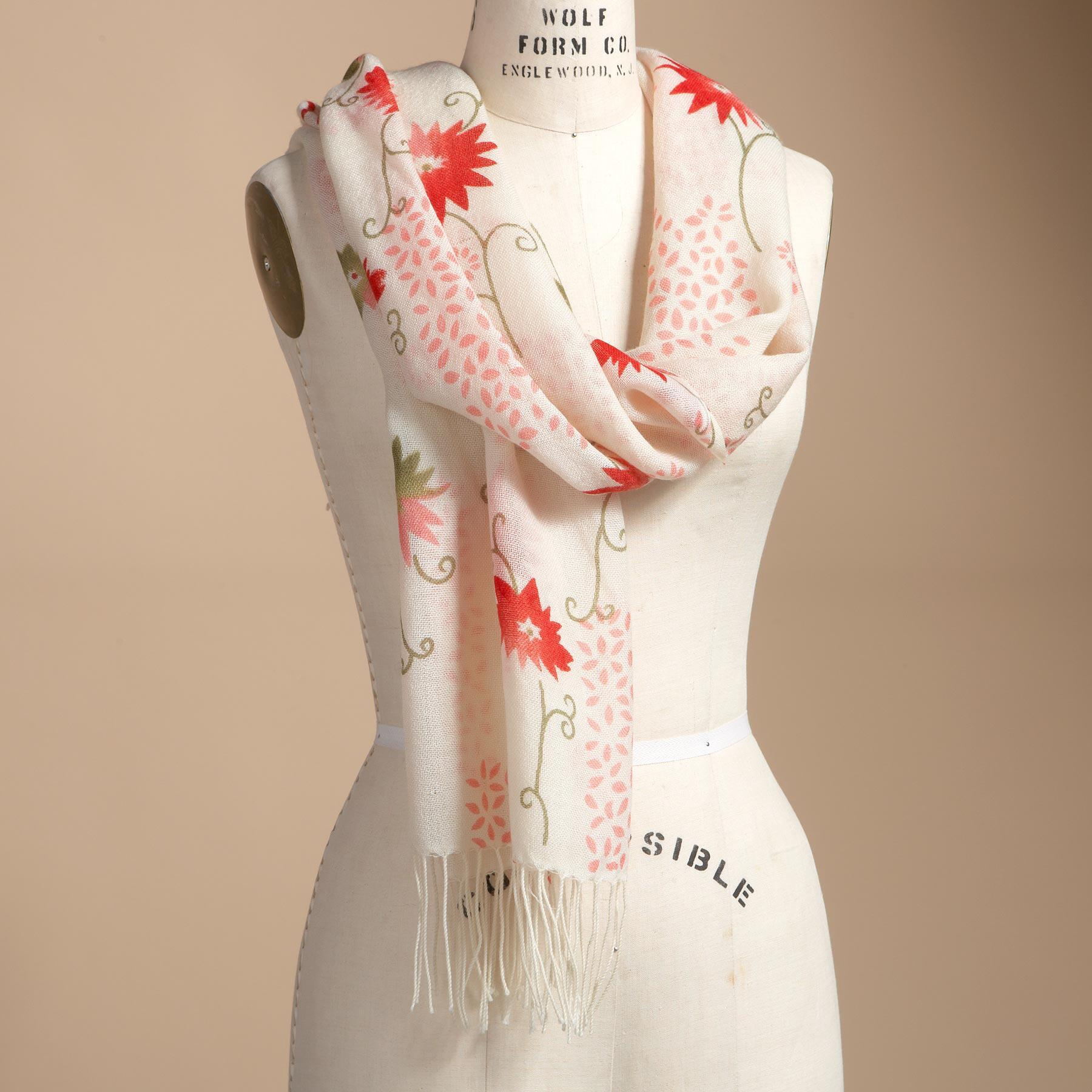 FLORAL SCARF: View 1