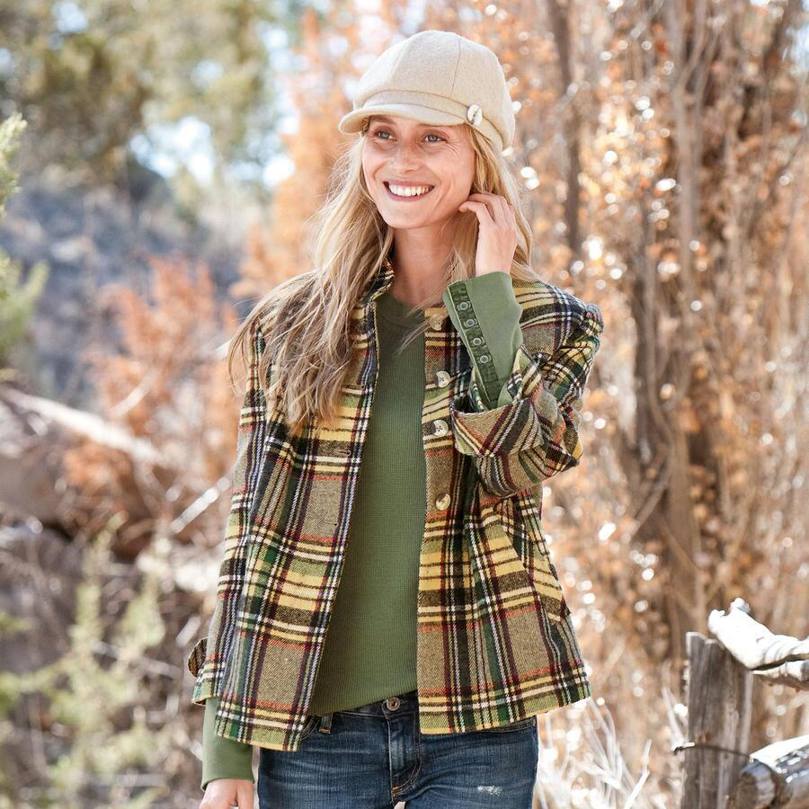 PLAID SWING JACKET