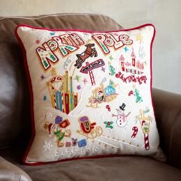 SOUVENIR NORTH POLE PILLOW