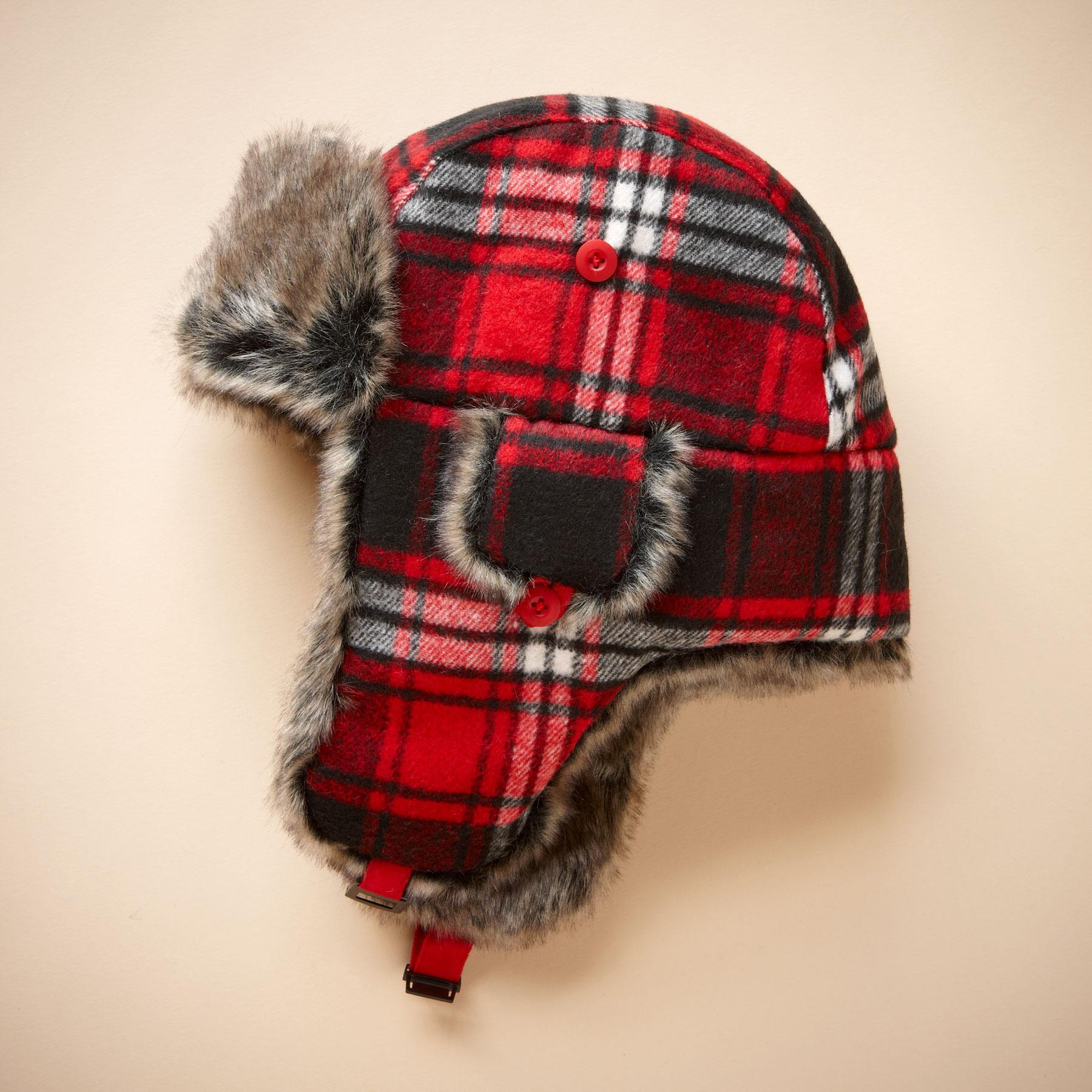 PLAID TRAPPER HAT: View 1