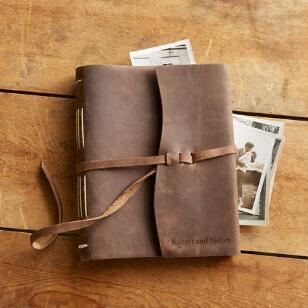 LEATHER KEEPSAKE PHOTO ALBUM