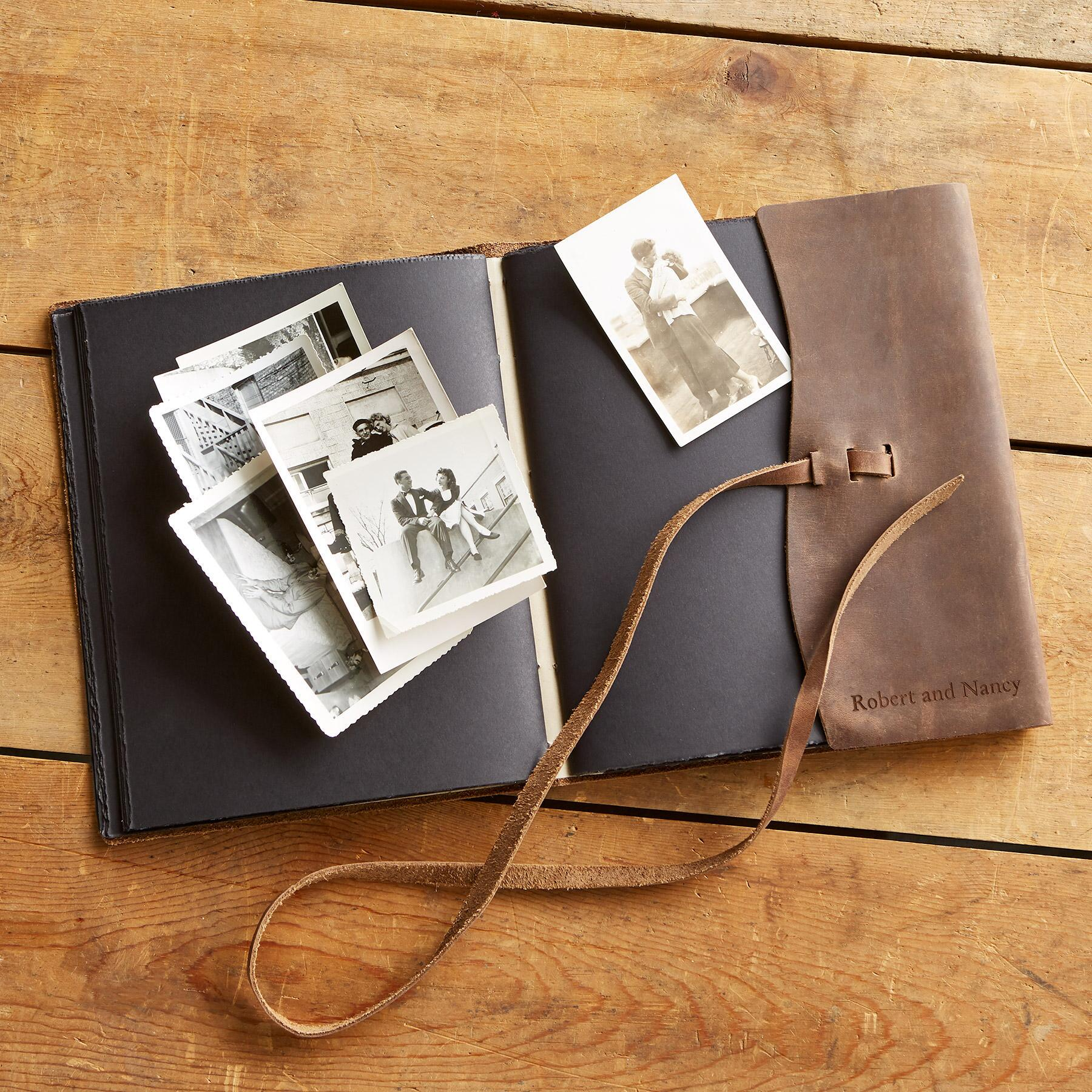 LEATHER KEEPSAKE PHOTO ALBUM: View 2