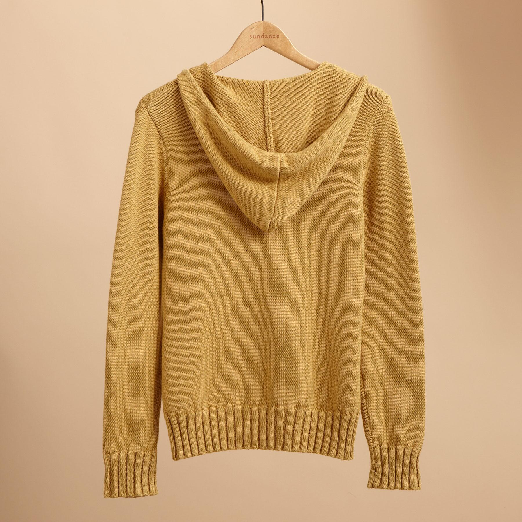 HOODIE CABLE CARDIGAN: View 2