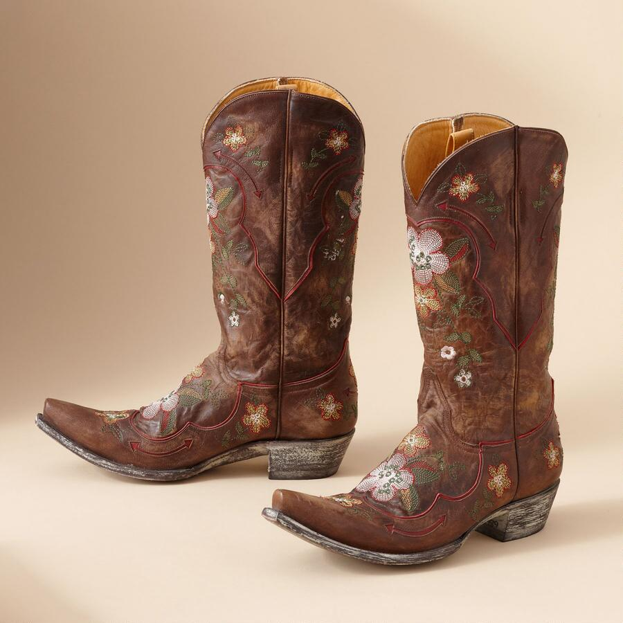 LONE STAR GAIA BOOTS IN BRASS