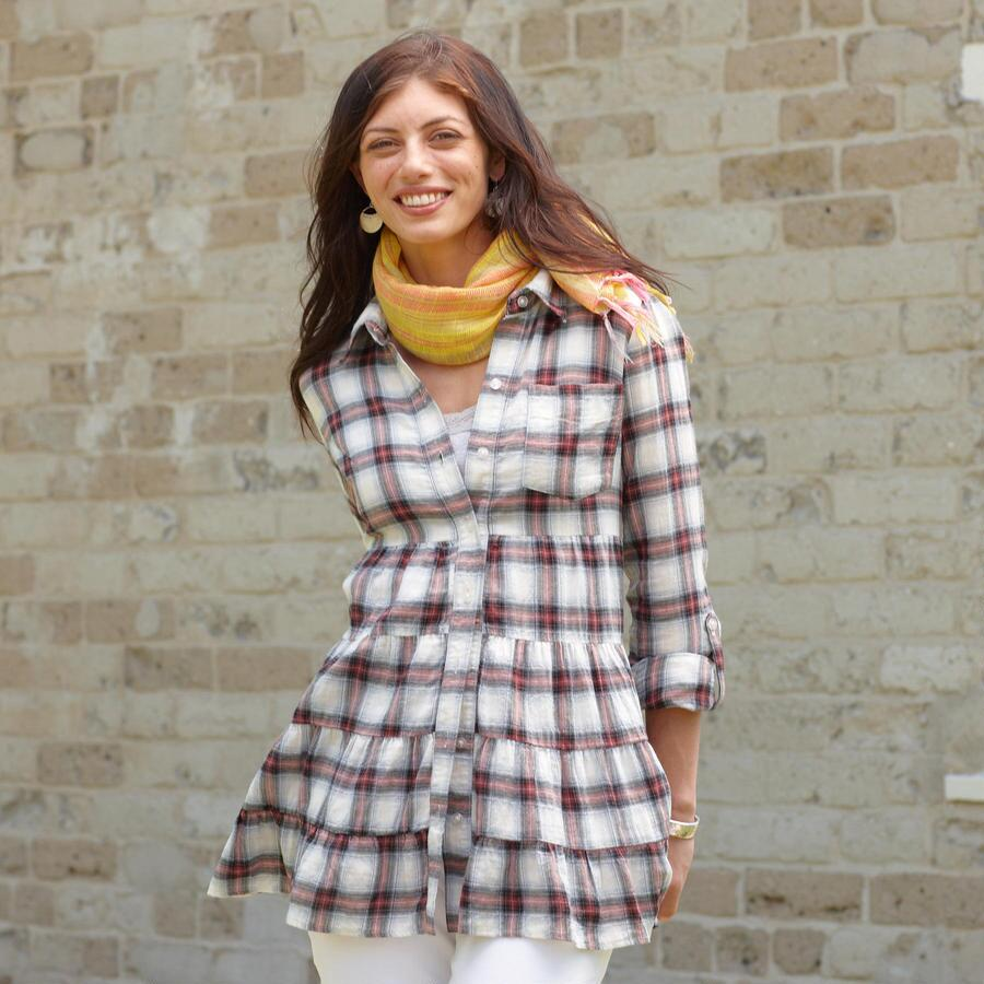 AMES PLAID TUNIC