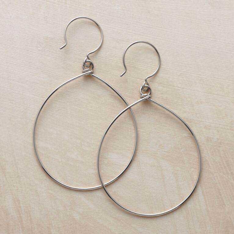 STERLING SILVER LIGHTHEARTED HOOPS