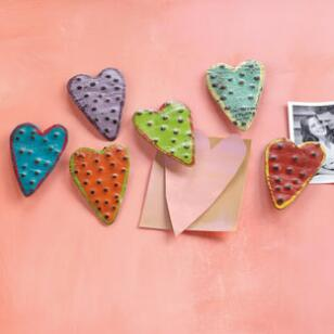 HEART MAGNETS, SET OF 6