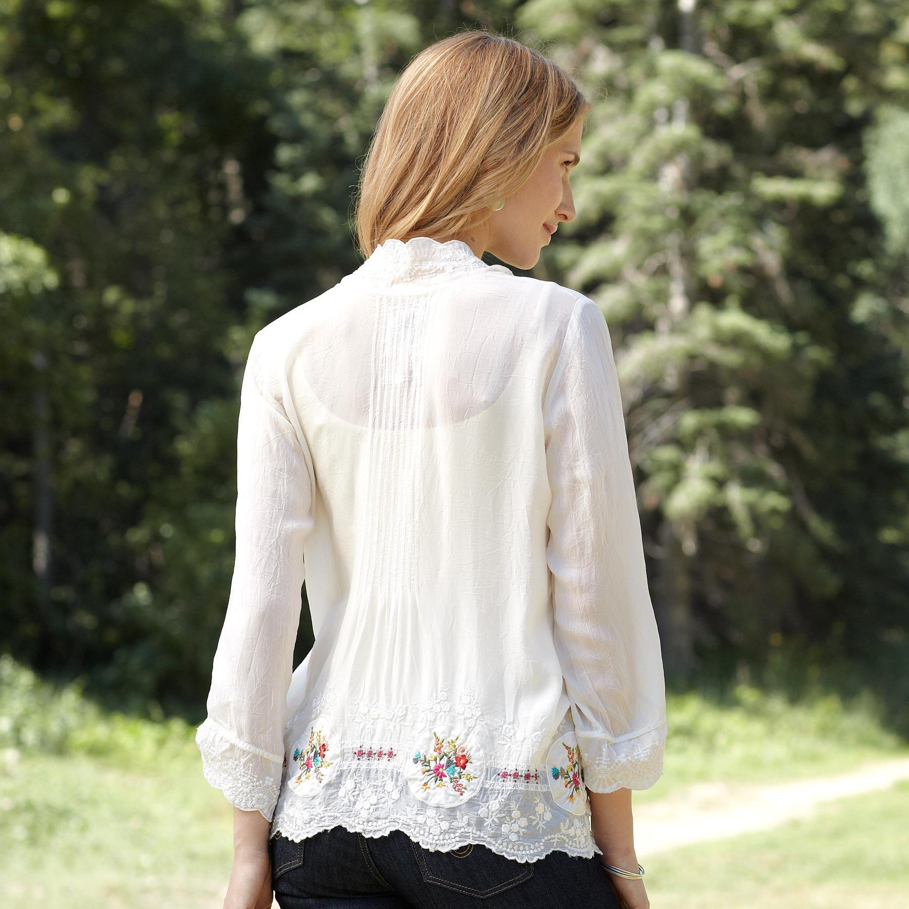 MEDALLION BLOUSE: View 2