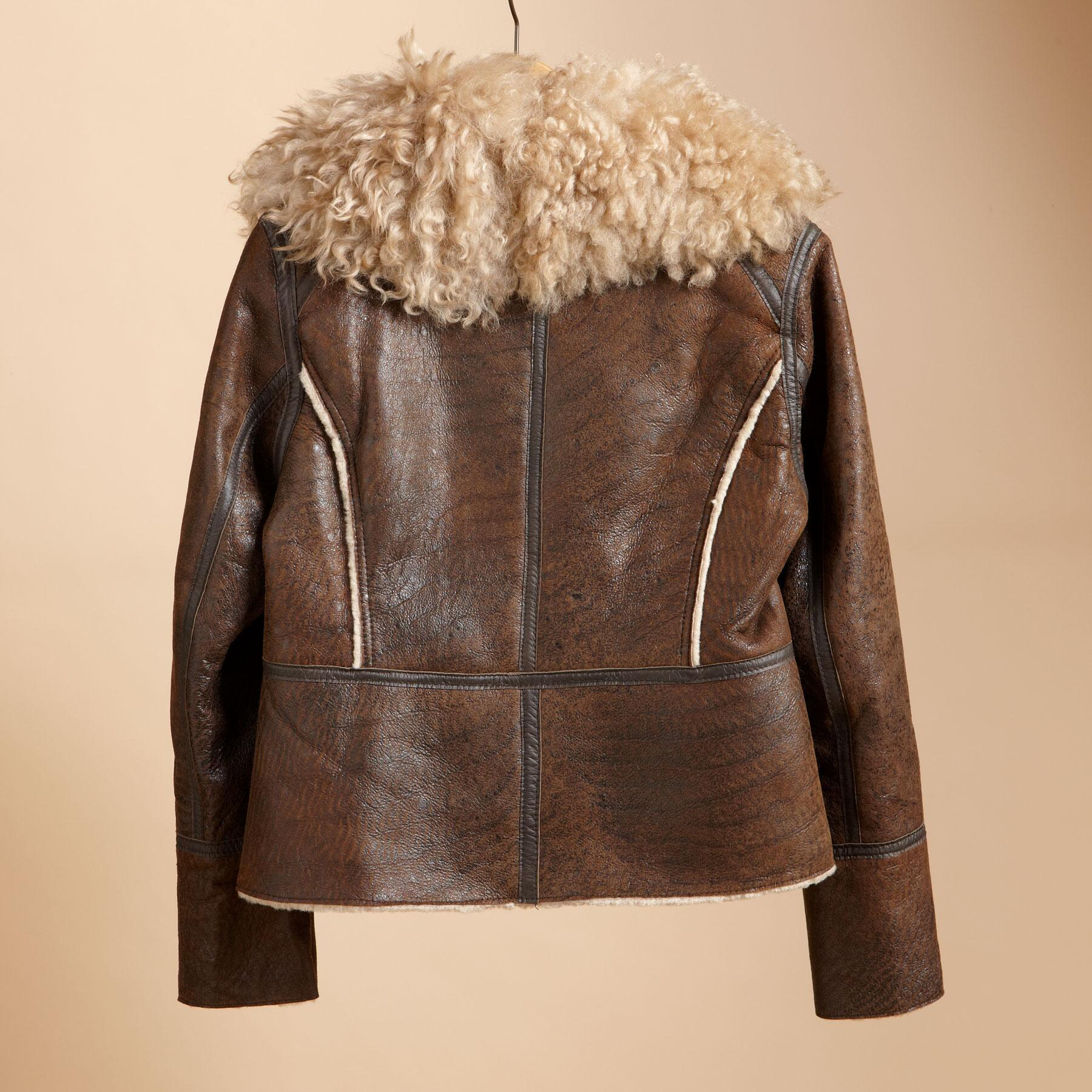 ASYMMETRICAL SHEARLING BOMBER: View 2