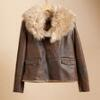 ASYMMETRICAL SHEARLING BOMBER: View 3