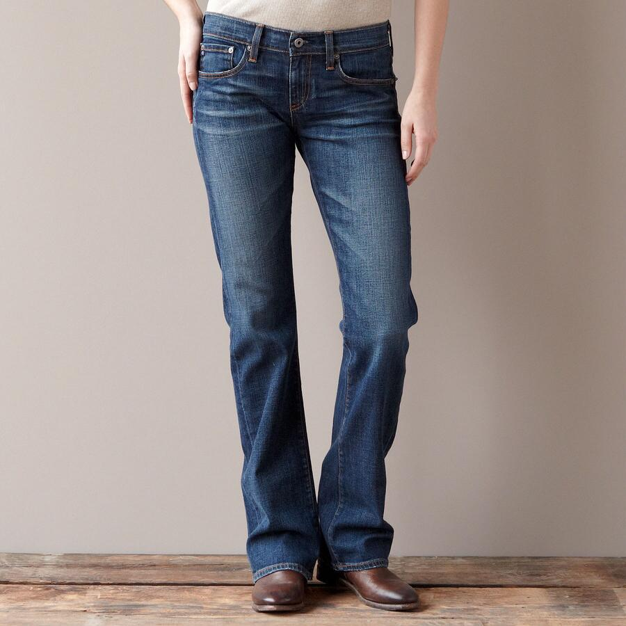A G DECADE FLAP BOOTCUT JEANS