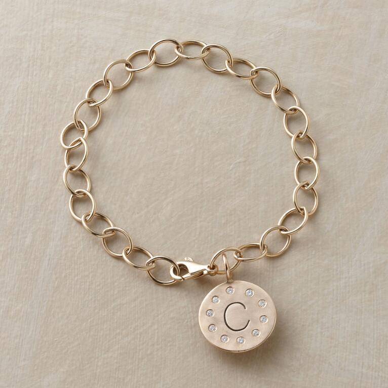 HEATHER'S DIAMOND INITIAL CHARM BRACELET