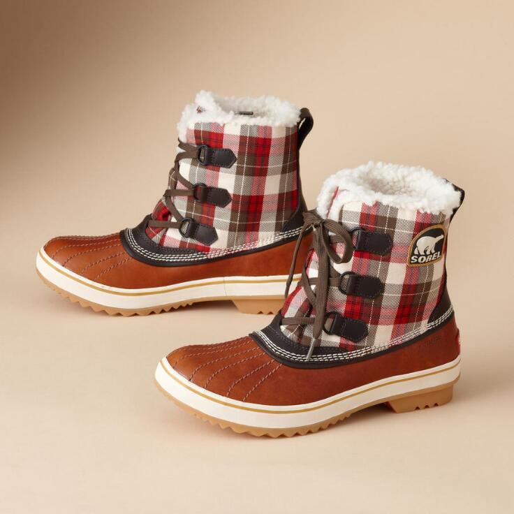 Tivoli Plaid Boots Boots Footwear Amp Bags