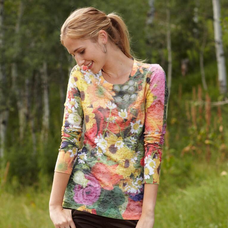 SISSINGHURST BURNOUT TEE