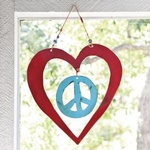 PEACE WITH LOVE HANGING ART