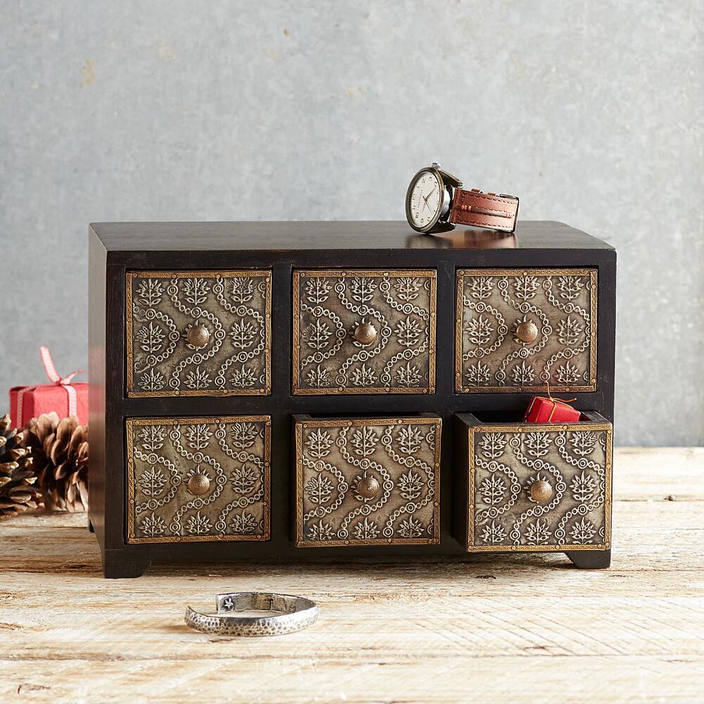 Handmade Metal & Wood Jewelry Box | Robert Redford\'s Sundance Catalog